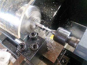 ミニチュアウクレレ用ペグの旋盤加工