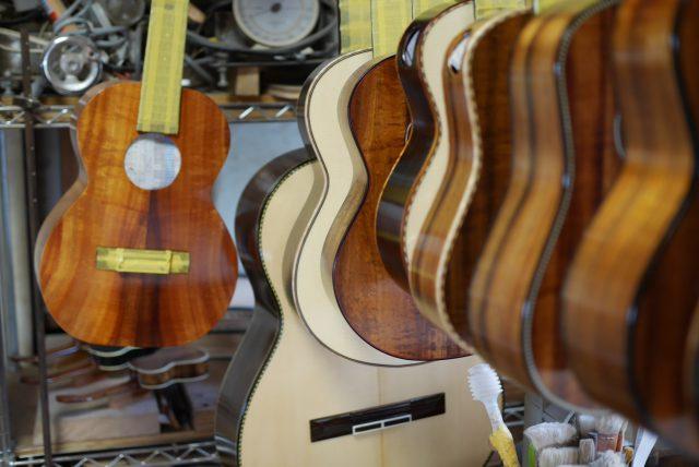 ギター&ウクレレ水研ぎ作業